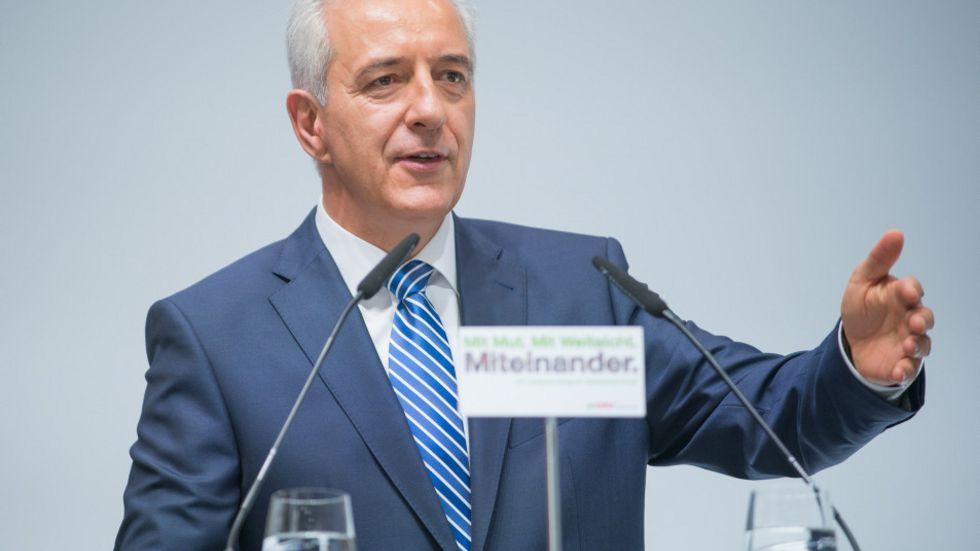 Ministerpräsident Stanislaw Tillich am Samstag in Dresden. Foto: CDU/Kretschel
