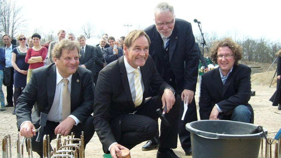 Hier wurde am 19.4.2013 der Grundstein für die neue Kita gelegt. (Archiv-Foto: Redaktion)