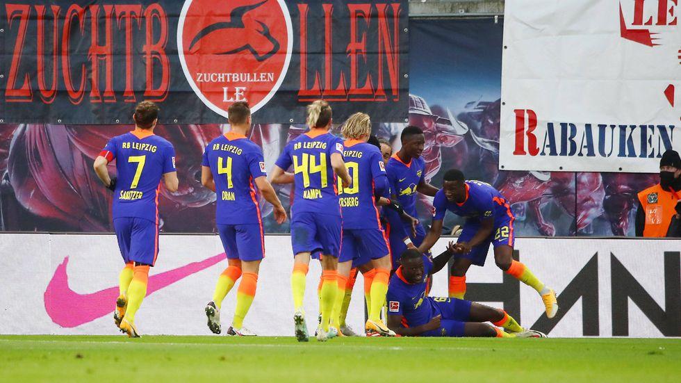Tor für RB Leipzig zum 1:0 durch Ibrahima Konaté