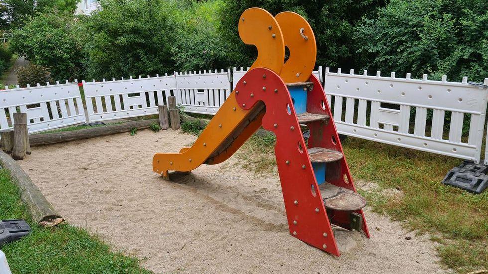 Der Spielplatz kann vorerst nicht mehr benutzt werden.
