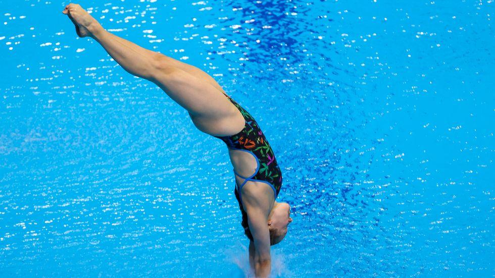 Die Dresdner Wasserspringerin Tina Punzel steht im Halbfinale bei den Olympischen Spielen in Tokio.