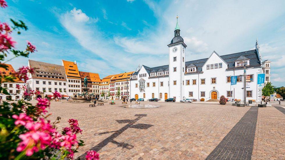 Der Freiberger Obermarkt.