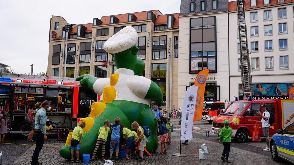 Aktionstag für Kinder auf dem Markt in Leipzig
