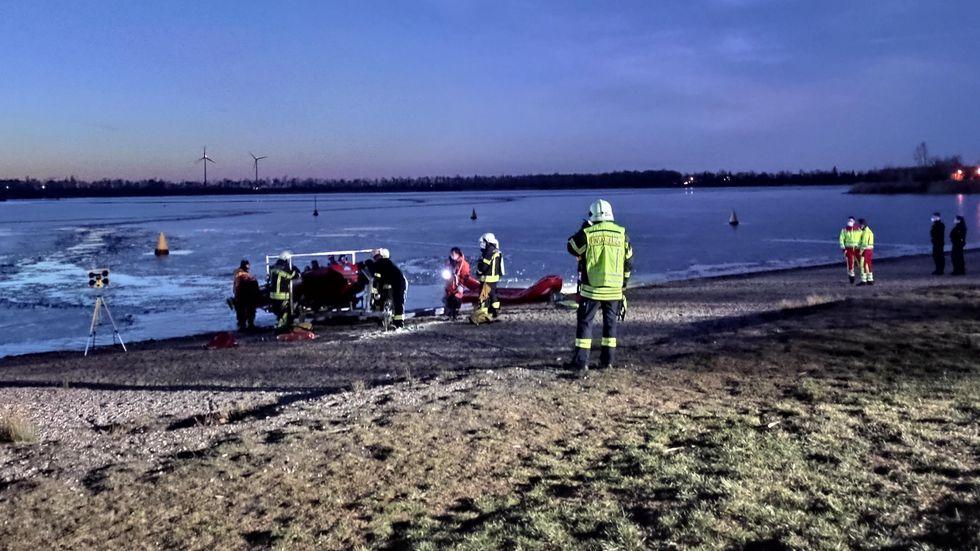 Feuerwehreinsatz am Kulkwitzer See