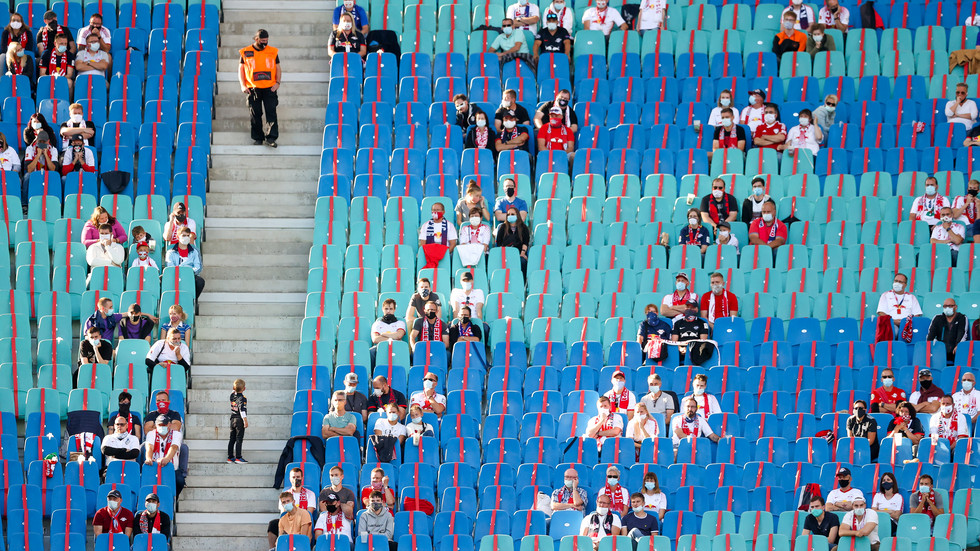 RB-Fans in der Red Bull Arena in Leipzig