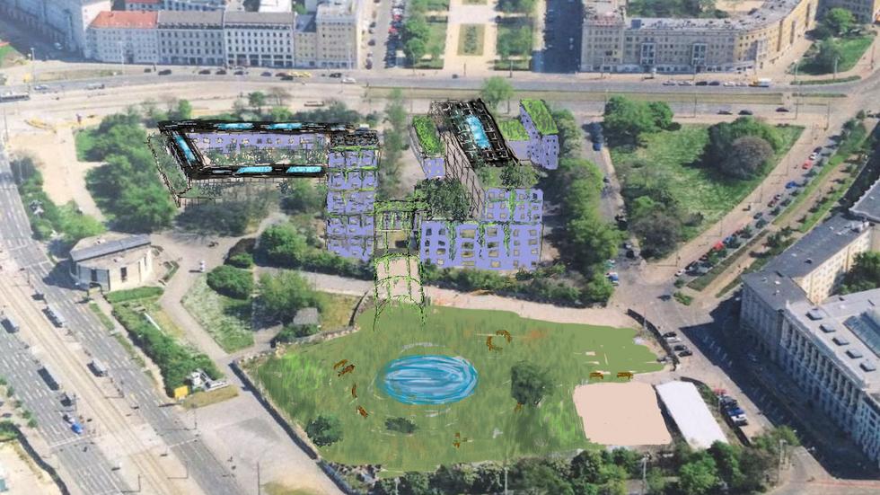Visualisierung Leuschnerplatz in Leipzig