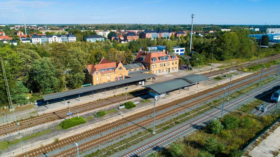Bahnhof in Borna