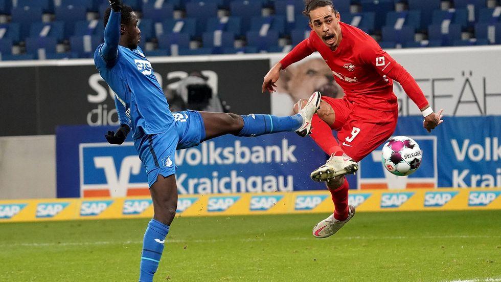 Yussuf Poulsen erzielt das goldene Tor für RB