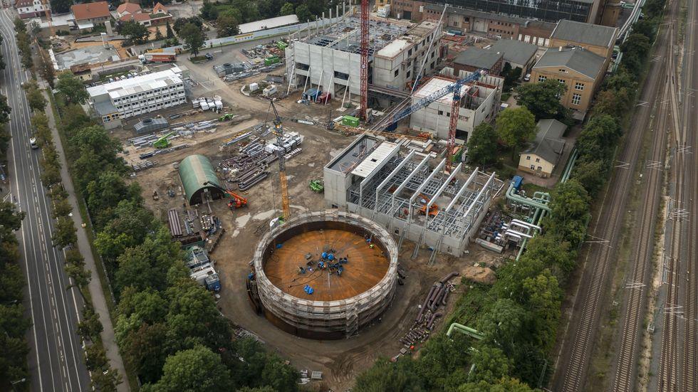 Heizkraftwerk Leipzig Süd in Connewitz