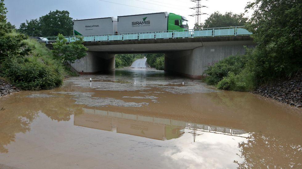 Diese Unterführung bei Glauchau wurde erneut überflutet.