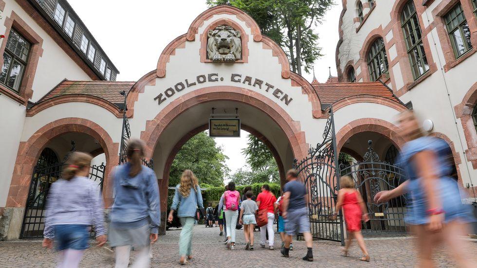 Eingangsbereich des Zoo Leipzig