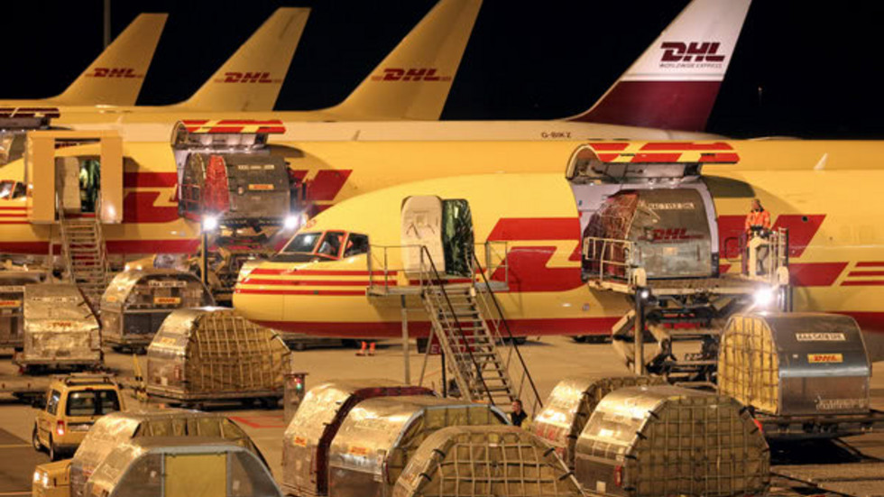 DHL-Flugzeuge am Flughafen Leipzig-Halle
