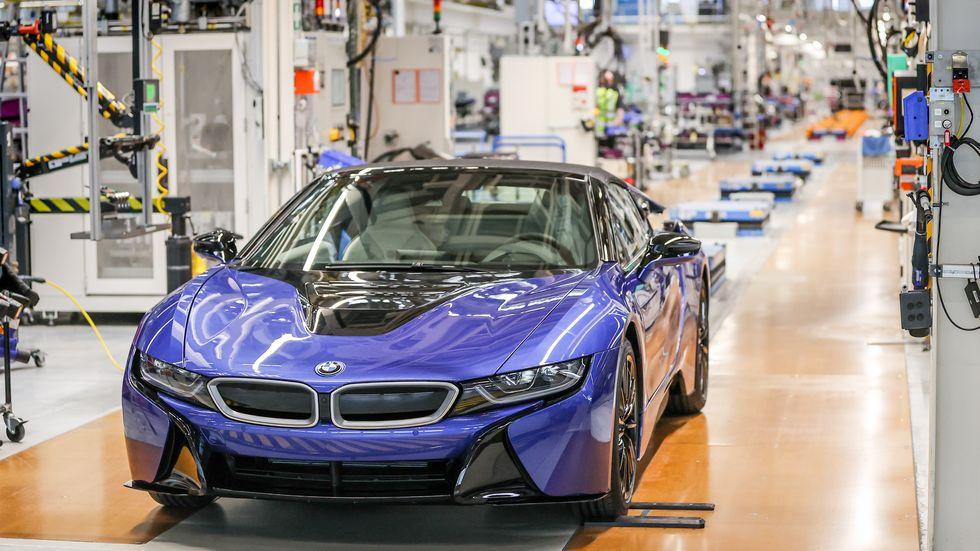Produktion im BMW-Werk Leipzig