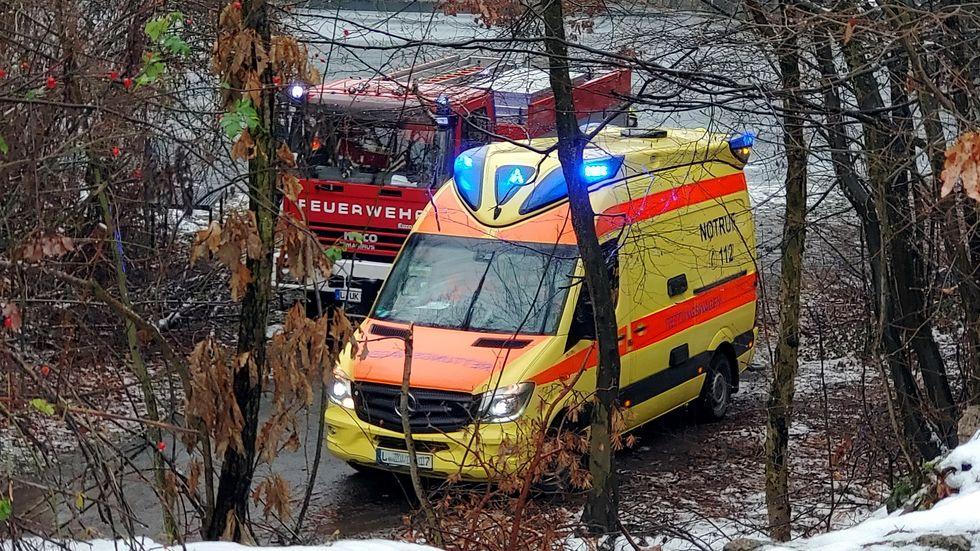 Rettungseinsatz am Westbruch Brandis