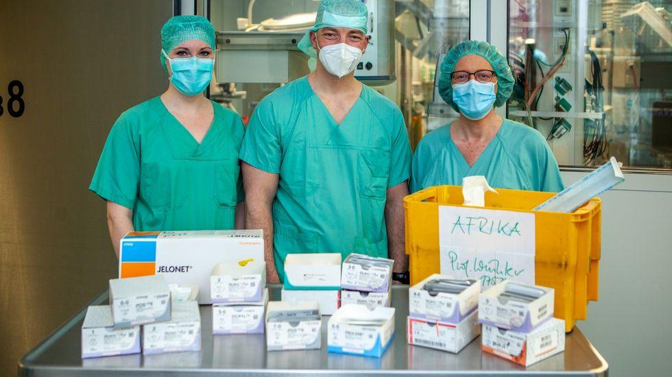 Dr. Franziska Frank, Dr. Ronny Grunert und Constanze Drephal von der Uniklinik