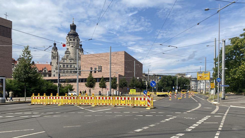 Baustelle in Leipzig