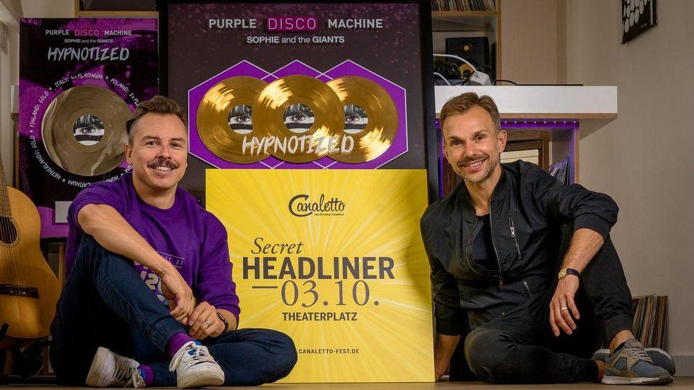Purple Disco Machine mit dem CANALETTO-Programmverantwortlichen Stefan Kästner.