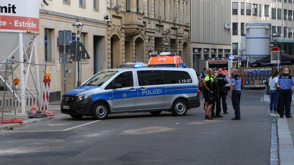 Feuerwehreinsatz in Leipziger Polizeirevier