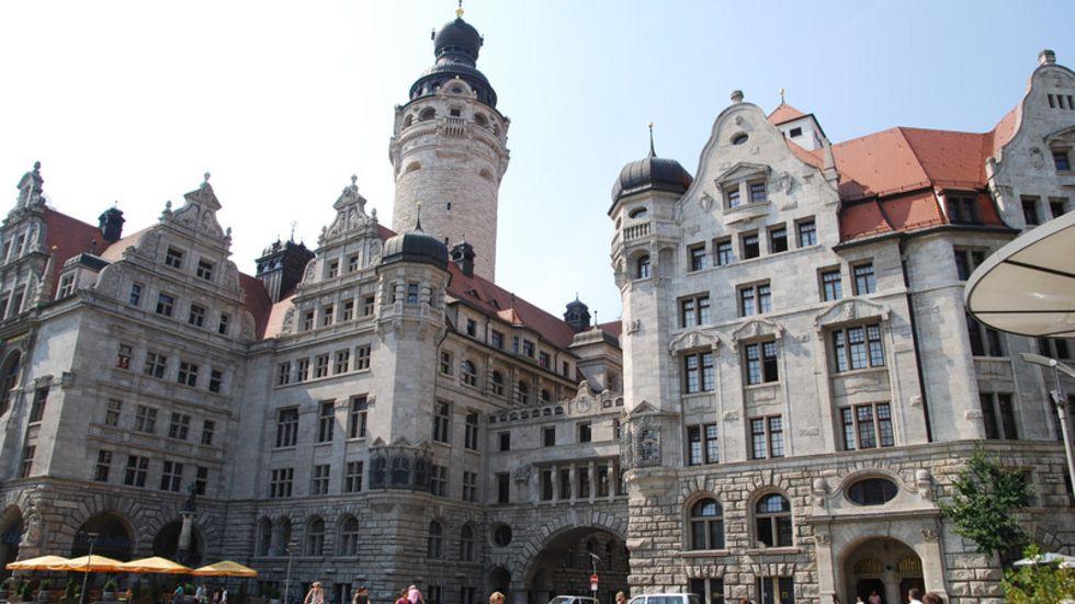 Neues Rathaus und Stadthaus in Leipzig